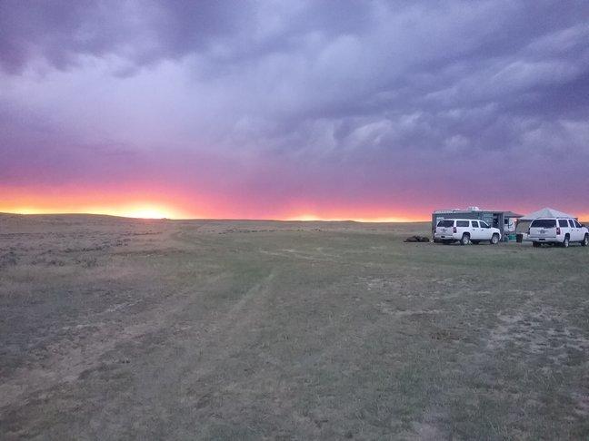 Een hele mooie zonsondergang